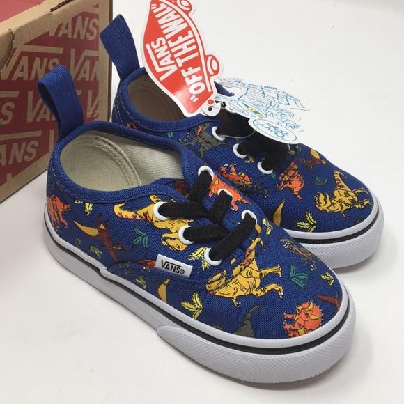 4fc17857eca0 VANS auth elastic dinosaurs shoes size 5.5 Toddler